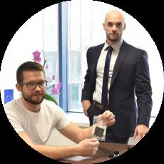dr. Matija Gatalo in Tomaž Bizjak, KI, ReCatalyst (start-up)
